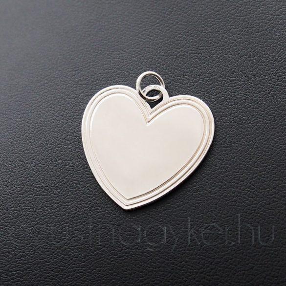 Gravírozható szív medál (25mm)