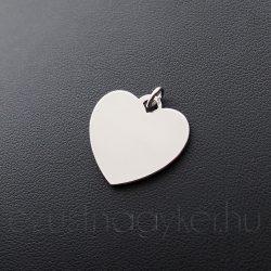 Gravírozható szív medál (20mm)