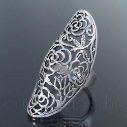 Áttört mintás gyűrű virág