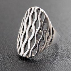 Áttört mintás gyűrű hullám