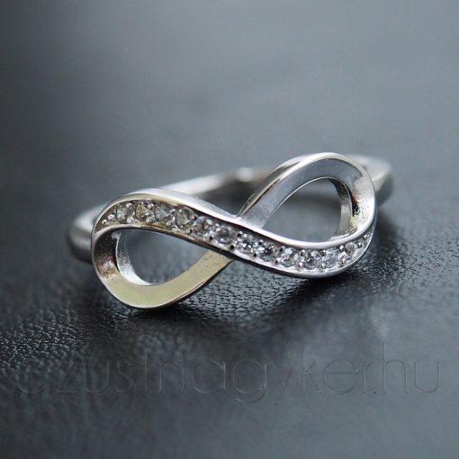 Cirkónia köves végtelen gyűrű