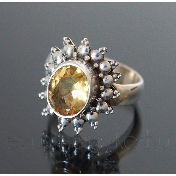 Citrin ezüst gyűrű