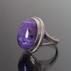 Csaroit köves ezüst gyűrű