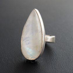 Holdkő ezüst gyűrű csepp