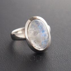 Holdkő ezüst gyűrű ovál 2