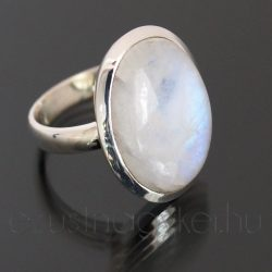 Holdkő ezüst gyűrű ovál 3