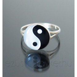 Jin Jang ezüst gyűrű