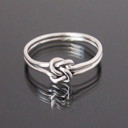 Végtelen fonat ezüst gyűrű