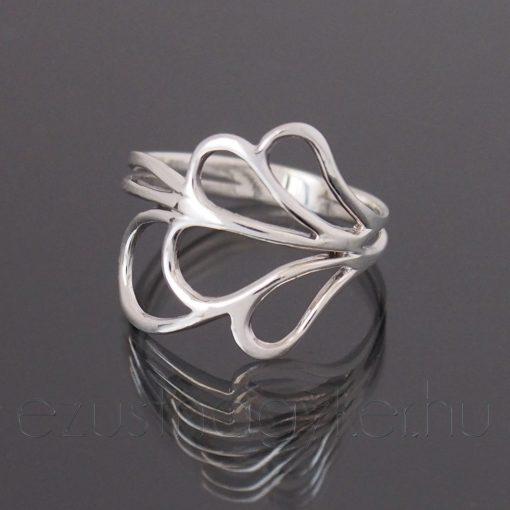 Pillangószárny ezüst gyűrű