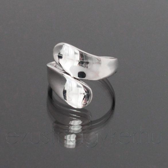 Két ágú ezüst gyűrű
