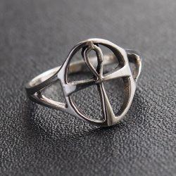 Ankh kereszt gyűrű