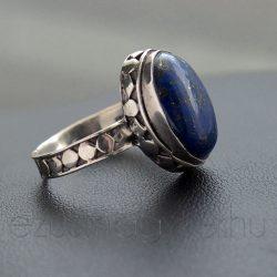 Lápisz ezüst gyűrű díszes