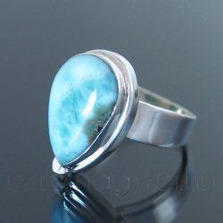 Larimar ezüst gyűrű csepp