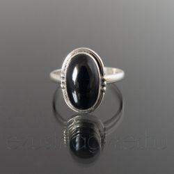 Ónix ezüst gyűrű navett2