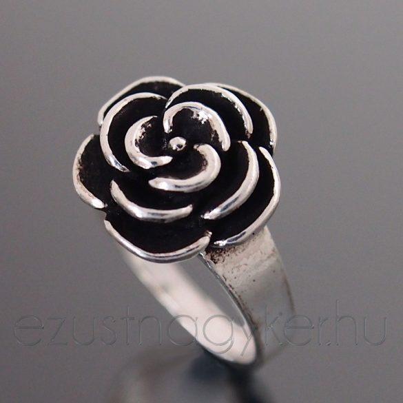 Rózsa ezüst gyűrű