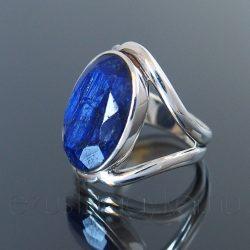 Zafír ezüst gyűrű