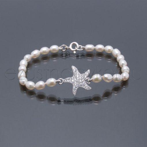 Tenyésztett gyöngy karkötő - csillag