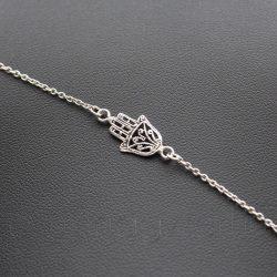 Fatima keze ezüst karkötő
