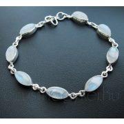 Holdkő ezüst karkötő - navett kövekkel