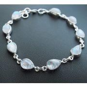 Holdkő ezüst karkötő - csepp kövekkel