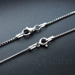 Ezüst kockalánc - kétféle vastagságban - Férfi, Ifi, Unisex ezüst nyaklánc