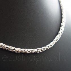 Vastag ezüst királylánc
