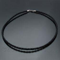 Fonott bőr nyaklánc - 4mm vastag