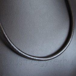 Tömör bőr nyaklánc ezüst zárszerkezettel - 5 mm vastag