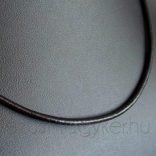 Tömör bőr nyaklánc ezüst zárszerkezettel - 3 mm vastag