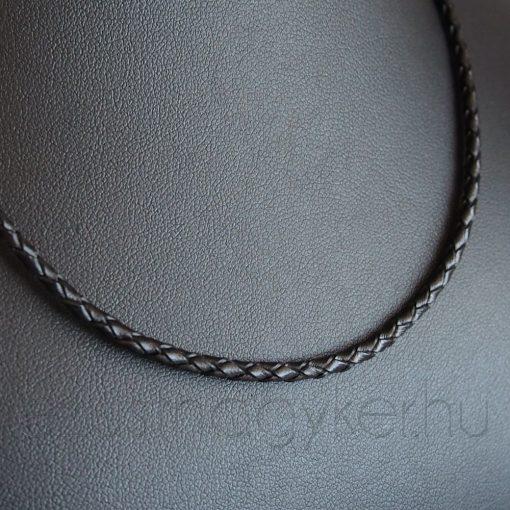 Fonott bőr nyaklánc - 3 mm vastag