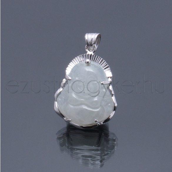 Jade kőből faragott Buddha medál 4