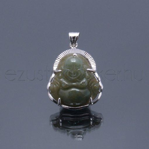 Jade kőből faragott Buddha medál 3