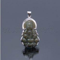 Jade kőből faragott Buddha medál 1