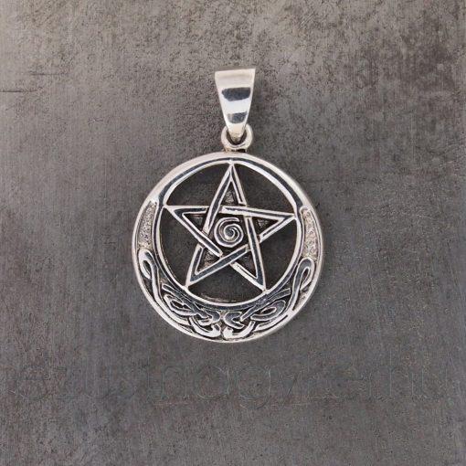 Pentagramm medál díszes