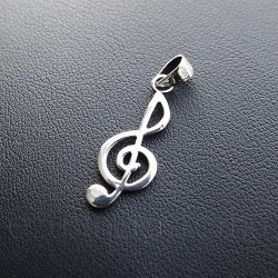 Violin kulcs ezüst medál