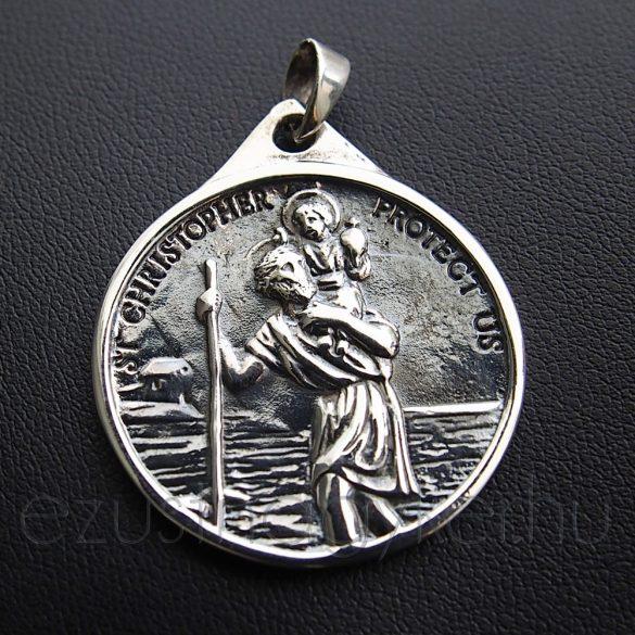 Szent Kristóf ezüst medál