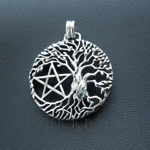 Nagy Életfa medál Pentagrammal