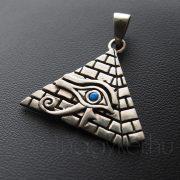 Piramis - Hórusz szeme medál, kék opál kővel
