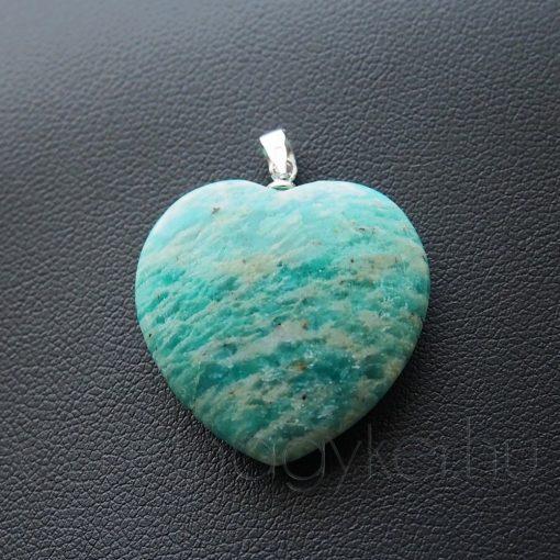Amazonit szív medál