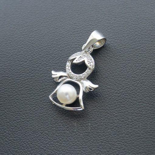 Cirkónia - Gyöngy Angyal medál