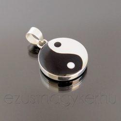 Jin-Jang ezüst medál 14 mm-es
