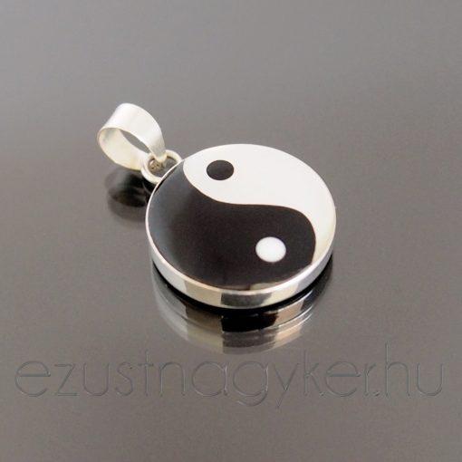 Jin-Jang ezüst medál 16 mm-es