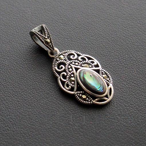 Markazit - Paua tiara medál