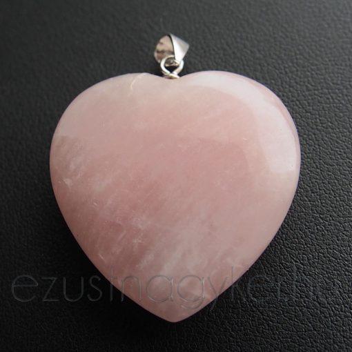 Rózsakvarc Szív medál - Óriás