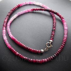 Rubin színátmenetes fűzött nyaklánc