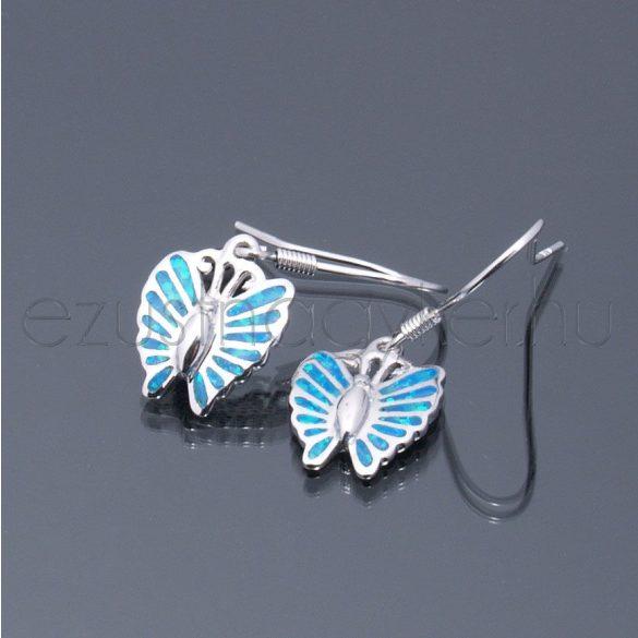 Opál fülbevaló pillangó