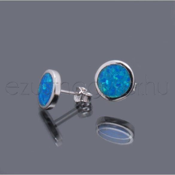 Opál fülbevaló kör 10 mm-es