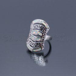Opál gyűrű áttört mintás fehér