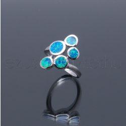 Opál gyűrű karikás