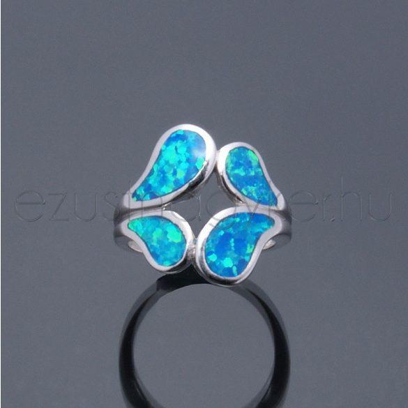 Opál gyűrű leveles